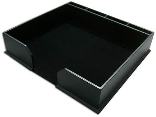 1000 Series Classic Black Leather Conference Pad Holder WAULERBUA1080