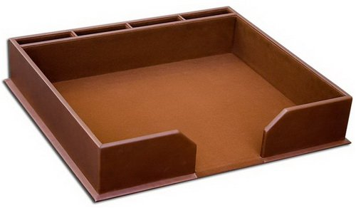 3200 Series Rustic Brown Leather Conference Pad Holder
