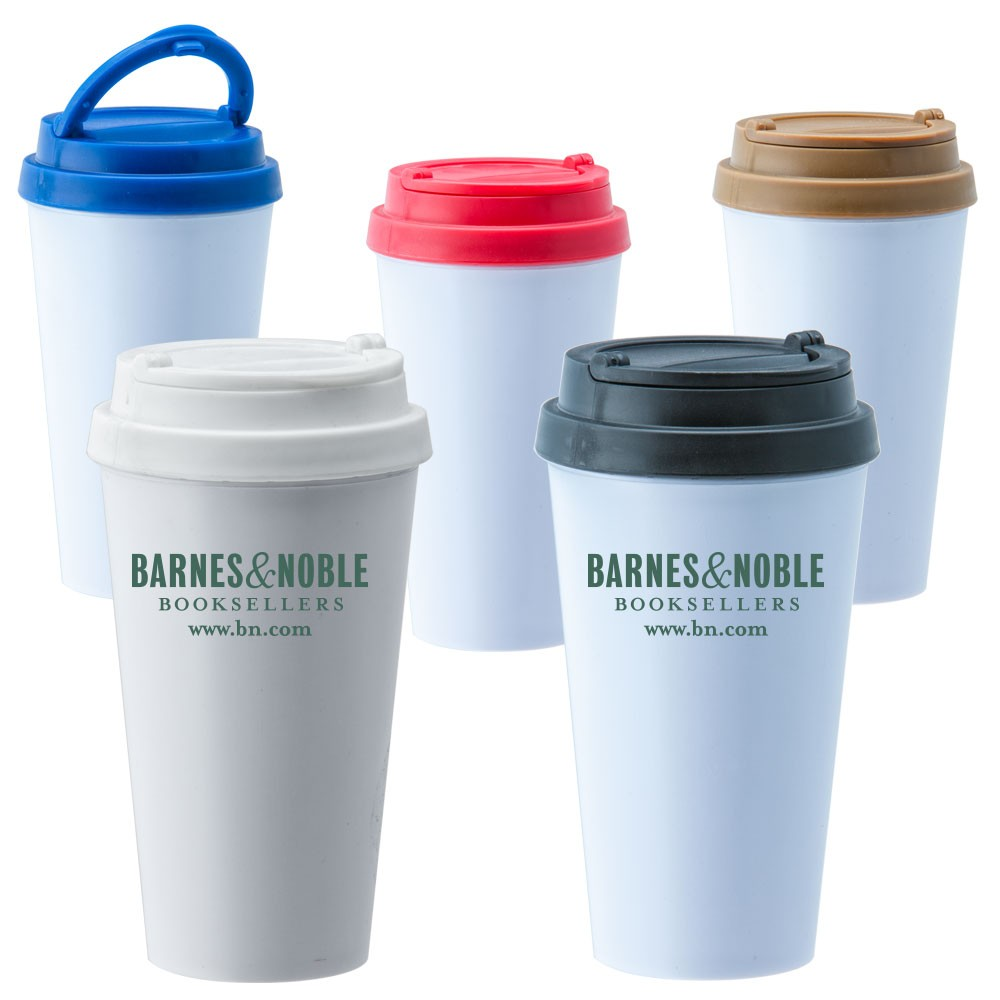 BPA FREE Tavel Mugs  With Double Wall and Colorful Lid WAUCUSTTUM021 - Tumblers