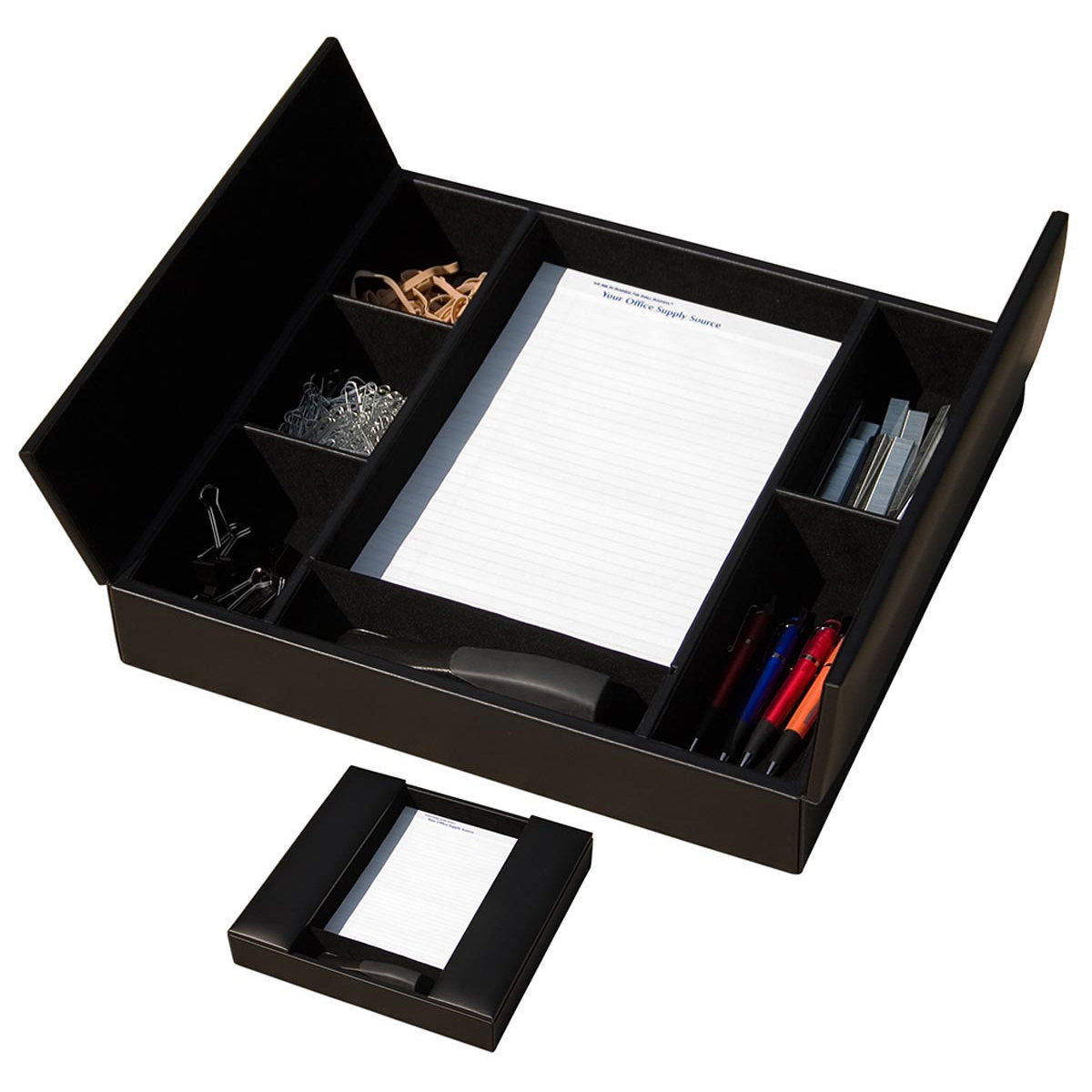 Black Leather Conference Room Organizer  WAULSRUBA3291