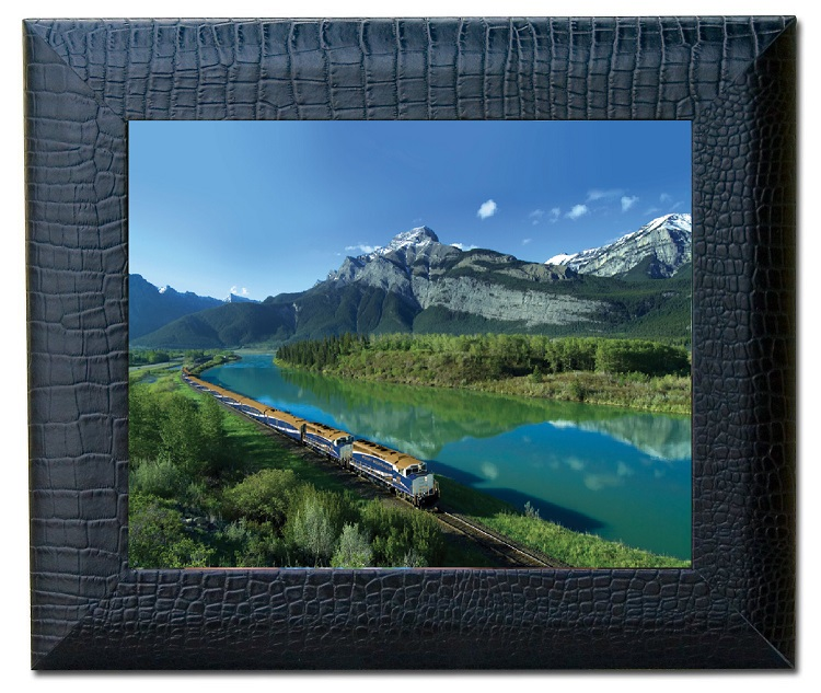 Black Crocodile Embossed Leather Photo Frame 8 x10-inch  WAUCUSTA2236