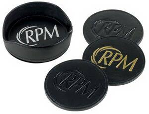 Black Leather Round Coaster Sets WAUCUST5385