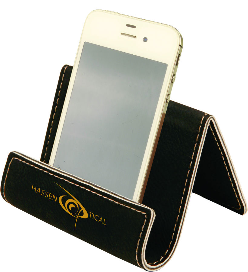 Black Leather Cell Phone Holder Waucustcell03