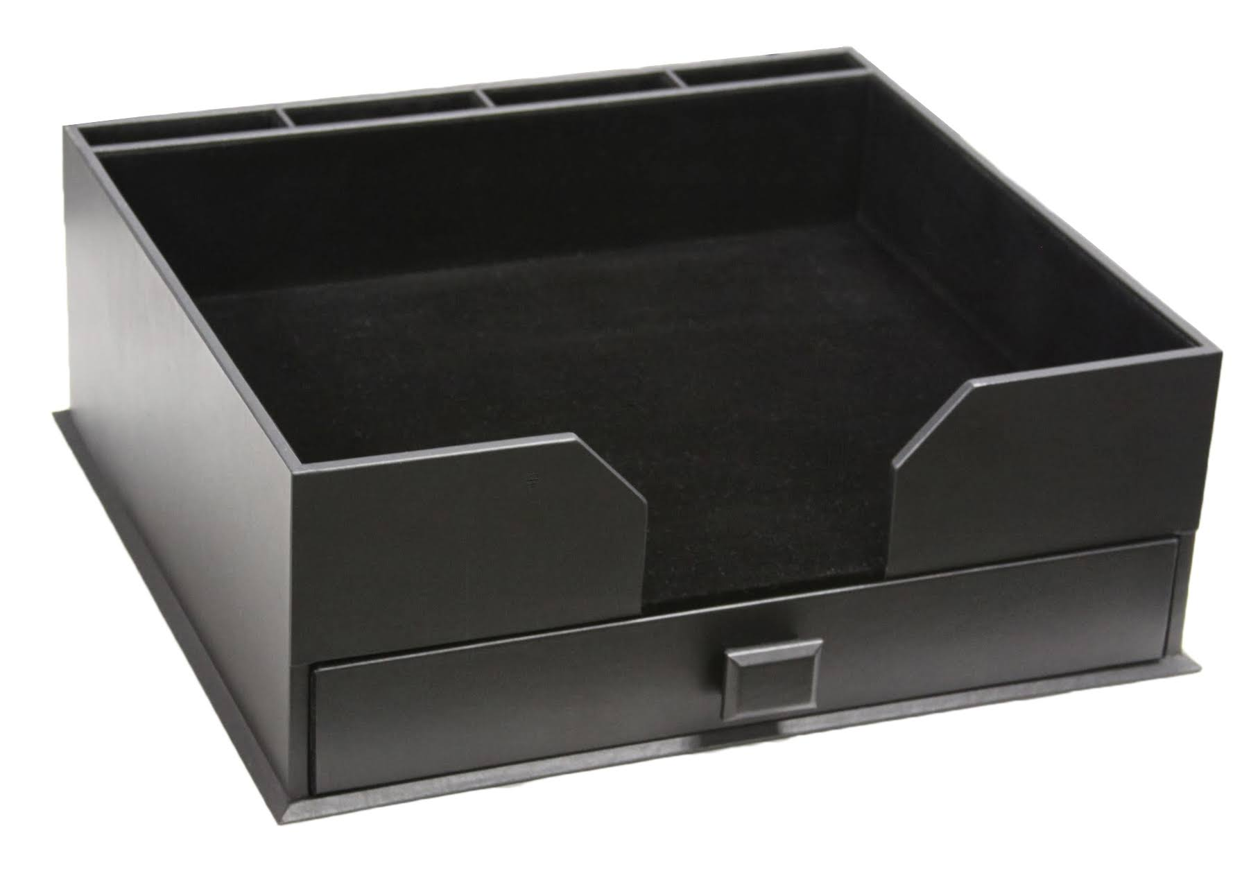 Black Leather Conference Pad Holder & Organizer WAUCUST31049B