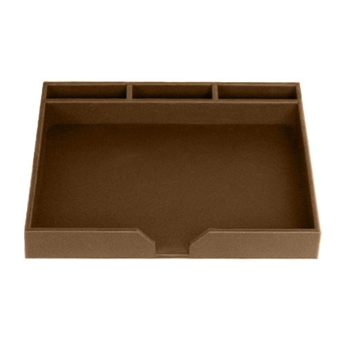 Brown Leather Conference Pad Holder  WAULBRO3210
