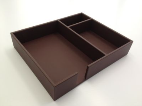Chocolate Brown Leather Conference Room Organizer Tray WAURSCSA1090
