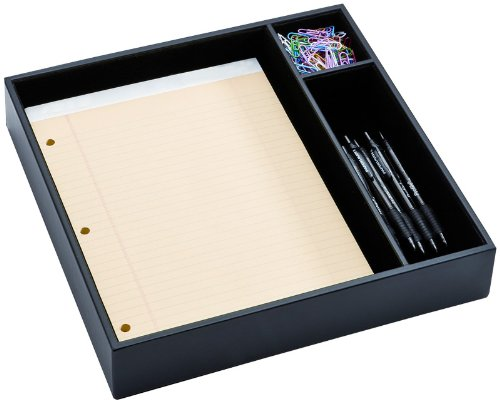 Conference Room Organizer Tray - Black Leather WAURSCSA1040