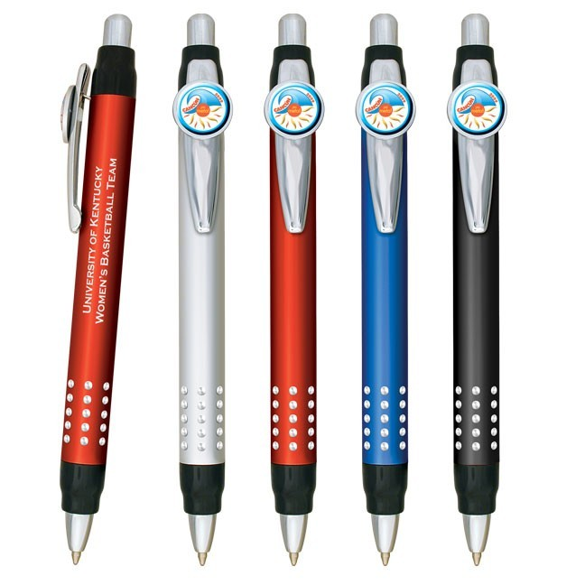 Deluxe Metal Pen With Full Color Dome Clip WAUDOME100