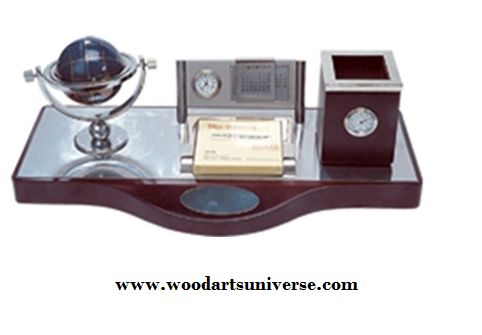 Desk Organizer With Globe  WAUSCBH0286