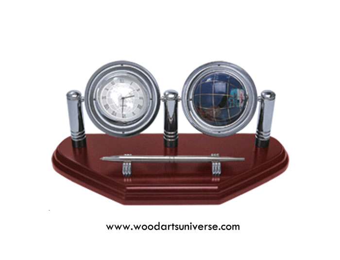 Globe Clock With Stylish Pen Stand WAUSGUB01902P