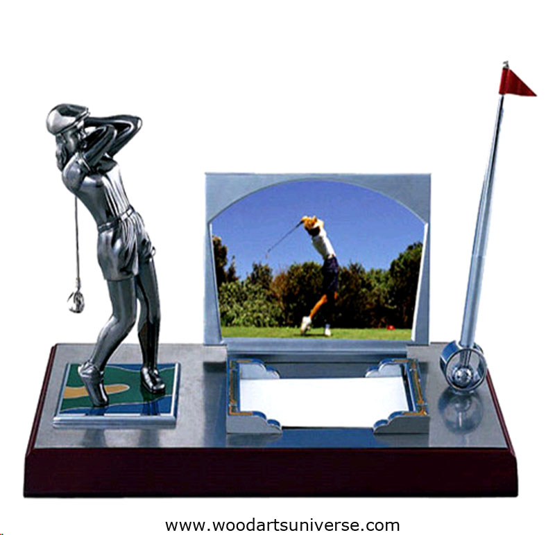 Golf Desktop Organizer With Photo Frame WASSBHGK051500