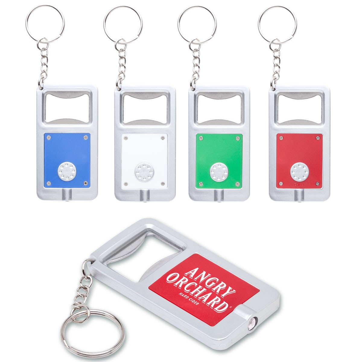 Keychain With Bottle Opener and Flashlight WAUCUSTMULTI02