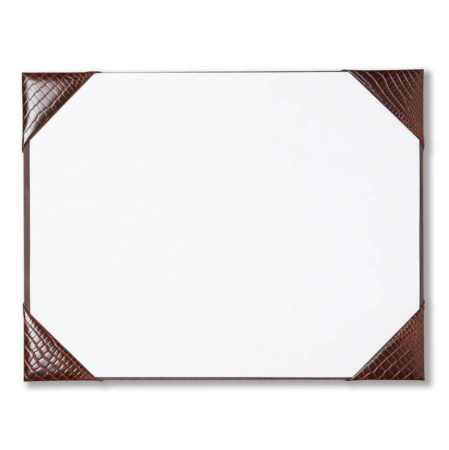 Leather Desk Blotter Pad Waucust415b Wood Arts Universe Llc