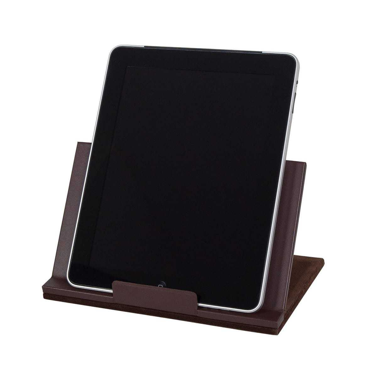 Chocolate Brown Leather Tablet Stand WAUCUSTTAB01