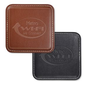 Leather Square Coasters  WAUCUSTPCS30