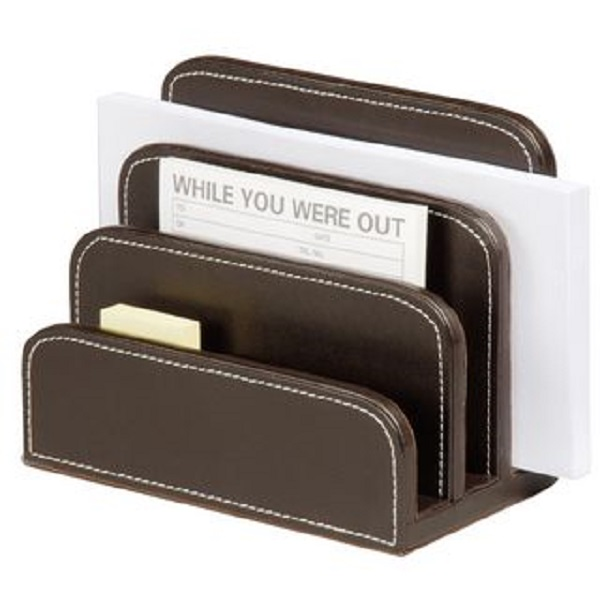 Brown Leatherette Letter Holder  WAUCUST11250