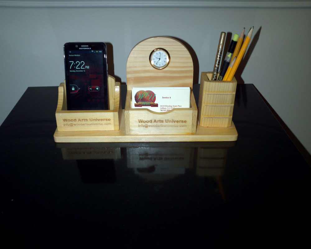 Personalized Executive Desktop Organizer For 4g Phones Wasma500