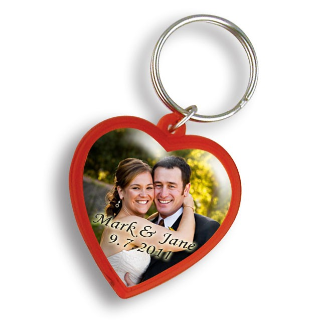 Personalized Red Heart Custom Keychain WAUCUST22WED