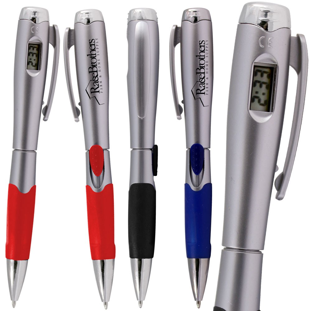 Premium Retractable Pen with Digital Clock WAUCUPFCLOBALL1