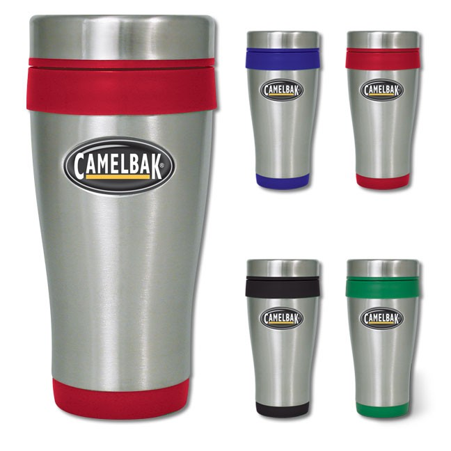 Promotional 16 oz. Stainless Steel Tumbler w/ Color Accents WAUCUST120MUG