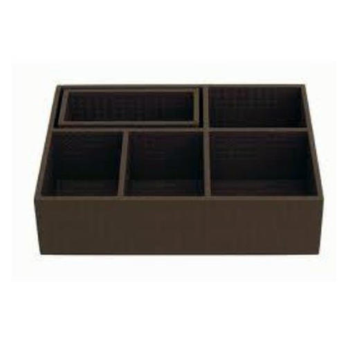 Leather Coffee  Condiment Organizer Tray WAUCUST441