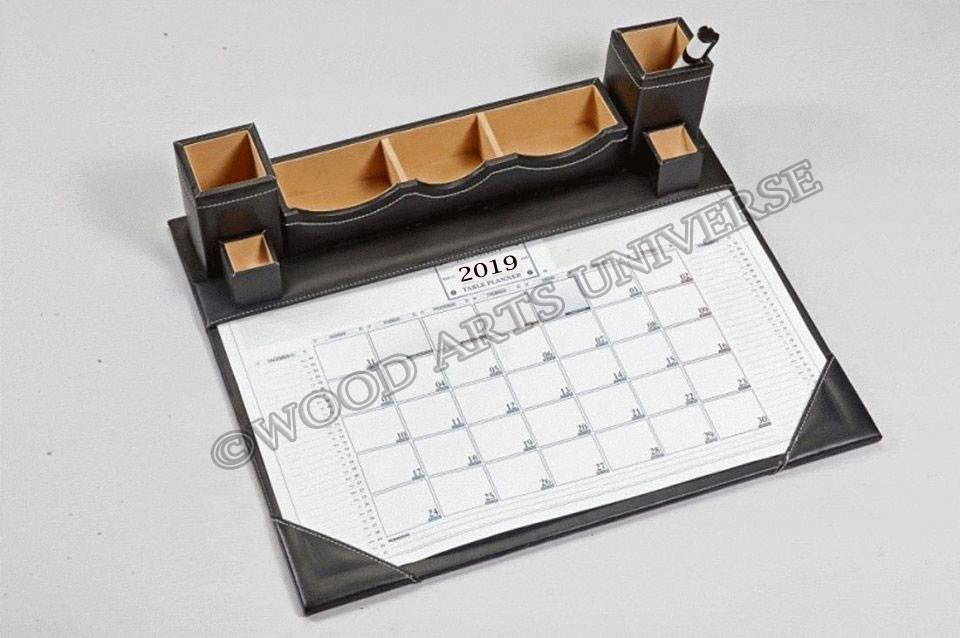 Leather Desk Calendar Planner WAUIS417