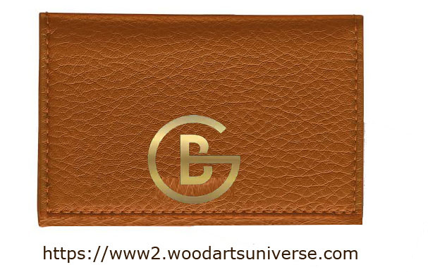 Tan Leather Business Card Case WAUCUST2313