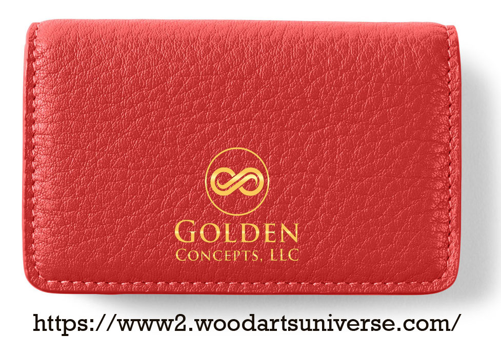 Red Business Card Case WAUCUST2315